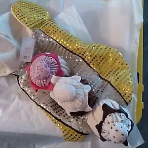 BNWT Pet Luv banana split dog costume- L